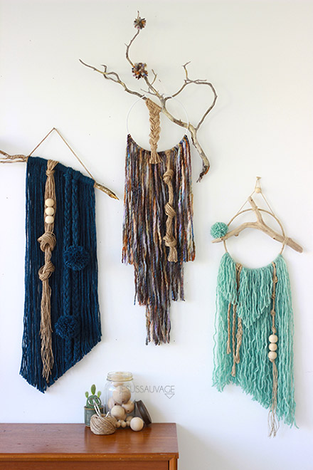 #tissage #wall #artisanat #creation #diy #wool #tendance #fashion #frange