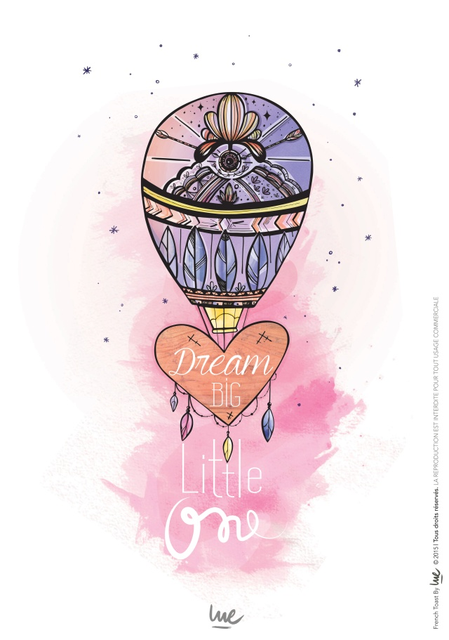#type #font #typelover #pink #watercolor #dreambiglittleone #theskyisthelimit #dreamondreamer #quote #illustrator #ink #wood #woodstick #color #paint #draw #graphicdesigner #airballoon #balloon #feather #nativeinfluence #french #frenchgraphicdesigner #graphicdesigner #lue #frenchlue #frenchtoastbylue #heart #star #intheskywithdiamond #whatimade #art
