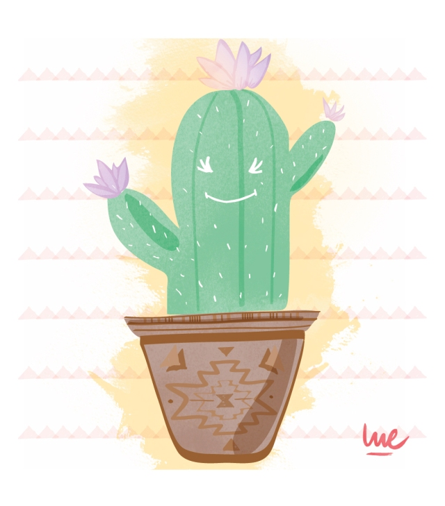 #illustration #frenchtoastbylue #lue #lucilelejeune #graphicdesigner #illustration #illustrator #cacatus #aieaieaie #çapique #plant #mexicanplant #cute #color #triangle #green