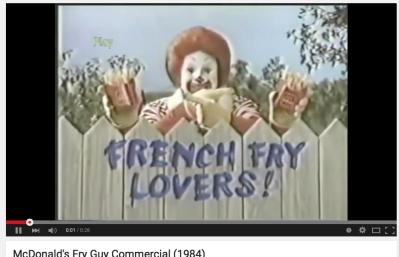 #commercial #1984 #mcDONALD #ronald #ronaldmcdonald #grimace #fryguy